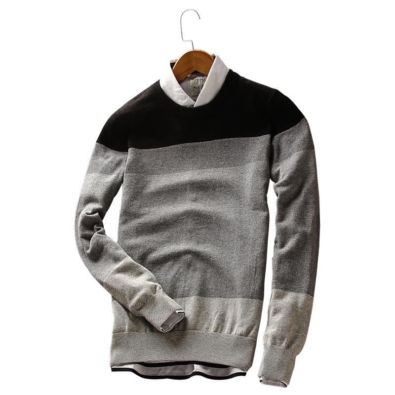 Áo len nam dài tay GF phối màu style Âu Mỹ