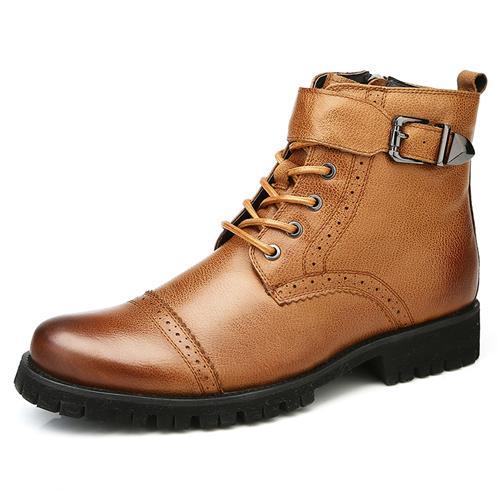 Giày nam Martens dây kéo Olunpo DZK1407