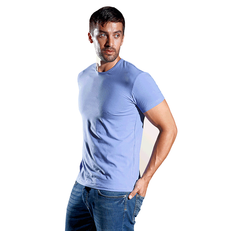Áo T-shirt nam OWZZA gam màu đơn sắc