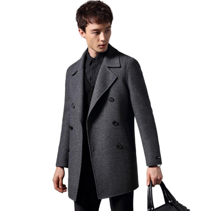 Áo khoác dạ lông cừu cao cấp hai lớp mới (mặc được 2 mặt)