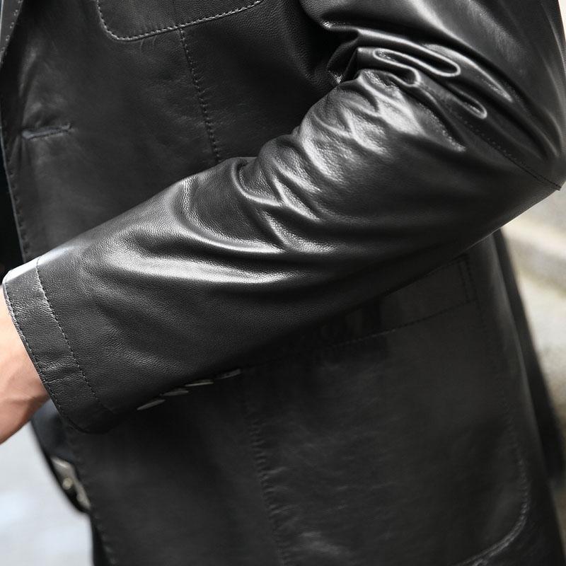 Áo khoác da dê dáng vest 2 khuy