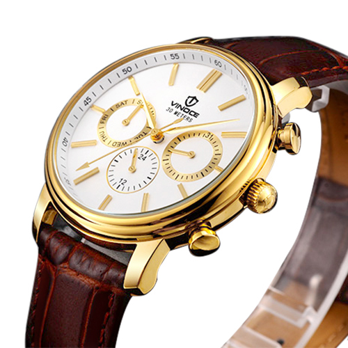 Đồng hồ 6 kim nam Vinoce 8371G