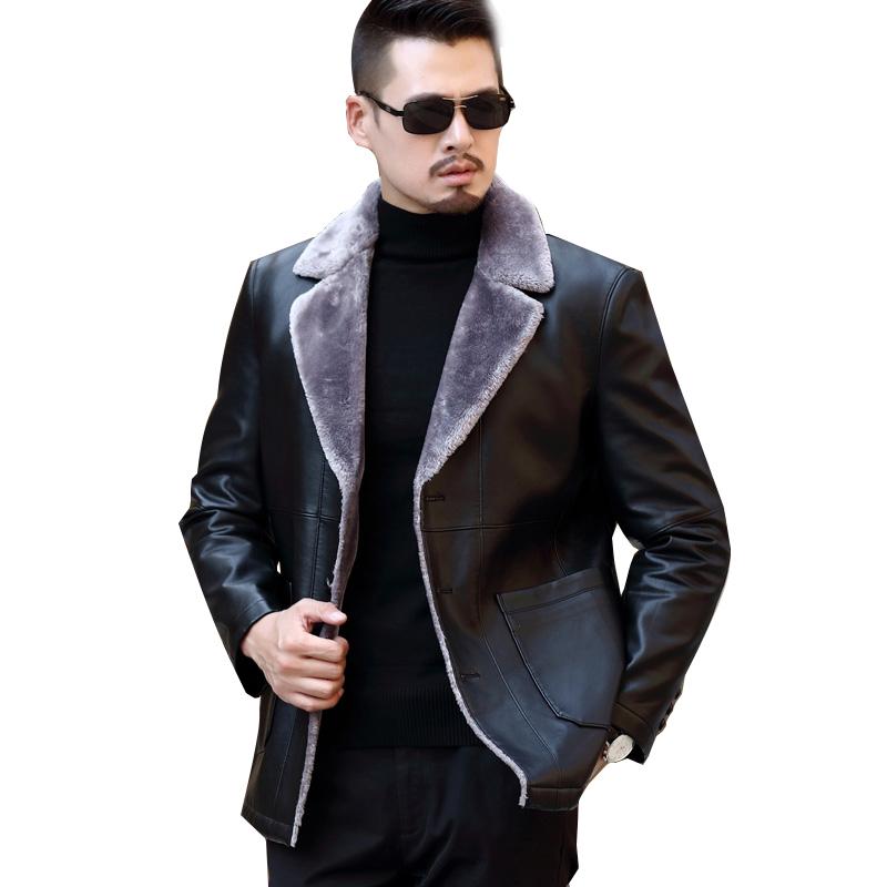 Áo khoác da lót lông cổ vest KSLPT