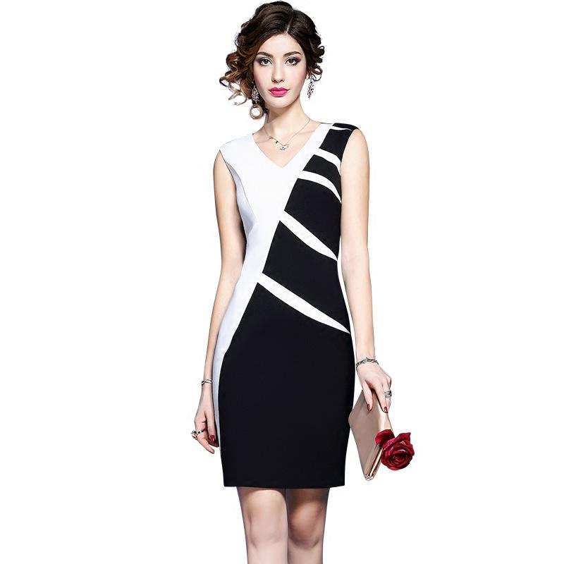 Váy body phối màu thân chéo