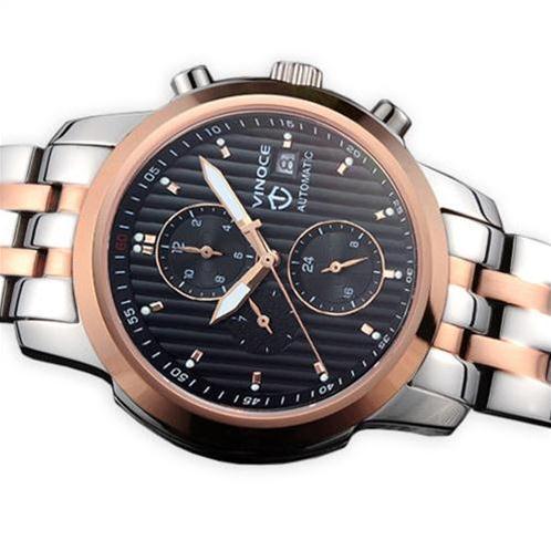 Đồng hồ cơ nam Vinoce V633229L mặt kính sapphire