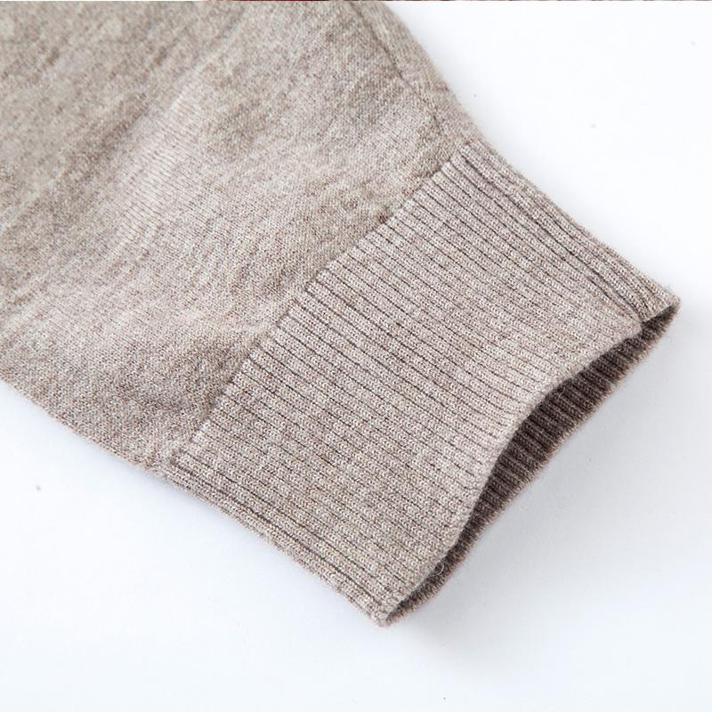 Áo len nam dài tay cổ tròn Nleidun