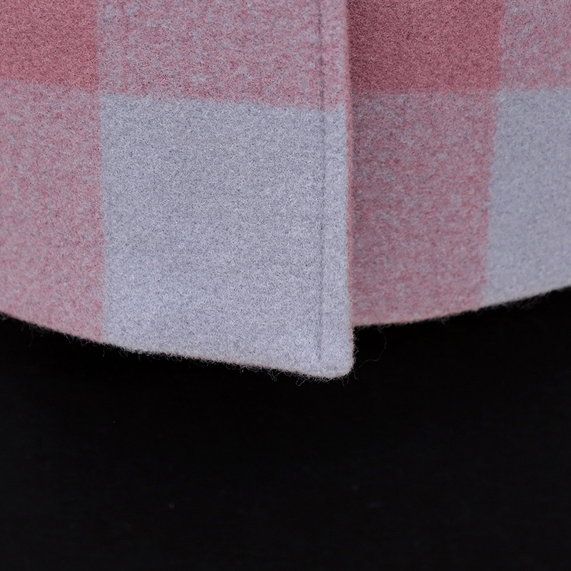 Áo khoác nỉ kẻ ô vuông phối màu SMT
