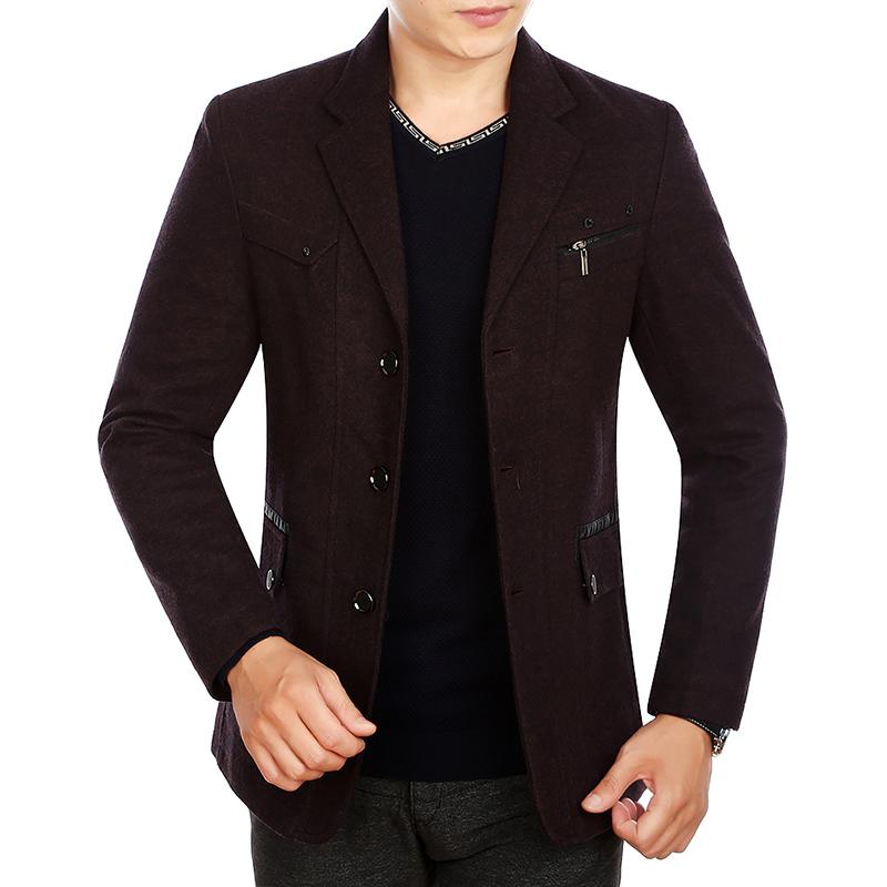 Áo Blazer nam lông cừu KSLPT style Âu Mỹ