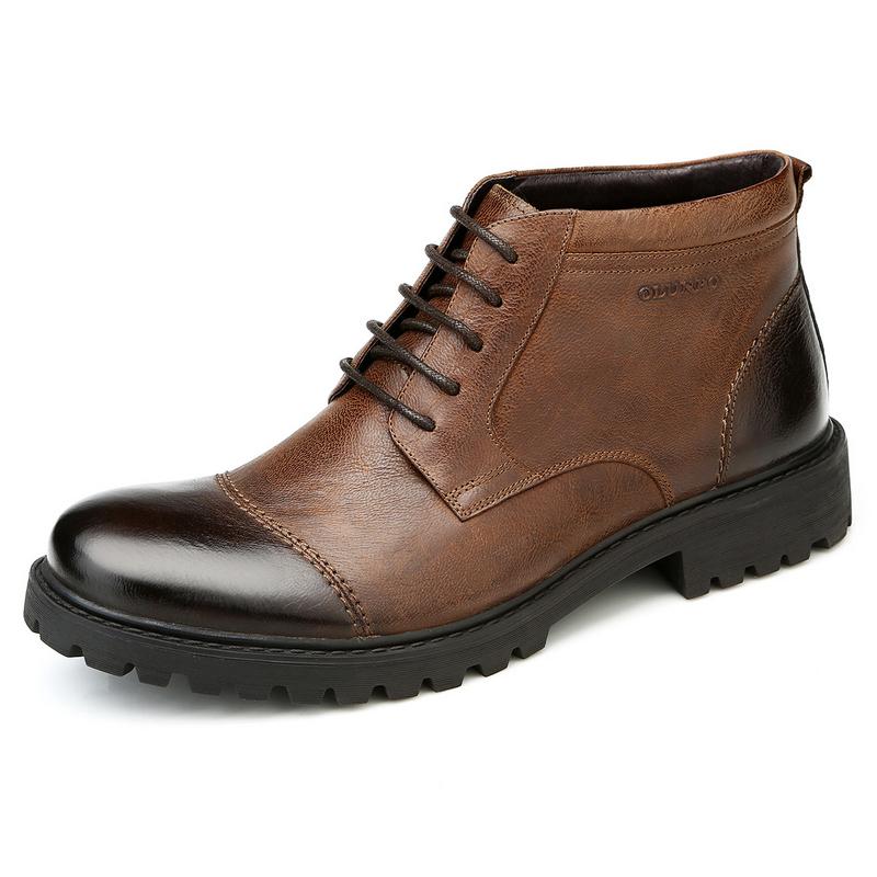 Giày boot nam Olunpo DHT1438 Đường vân độc đáo