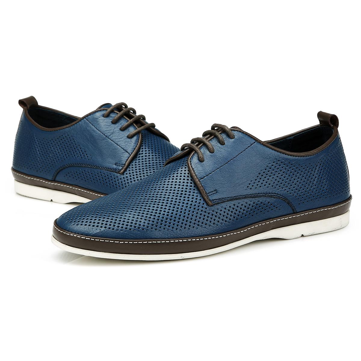 Giày da nam đục lỗ thời trang Olunpo XBS1501