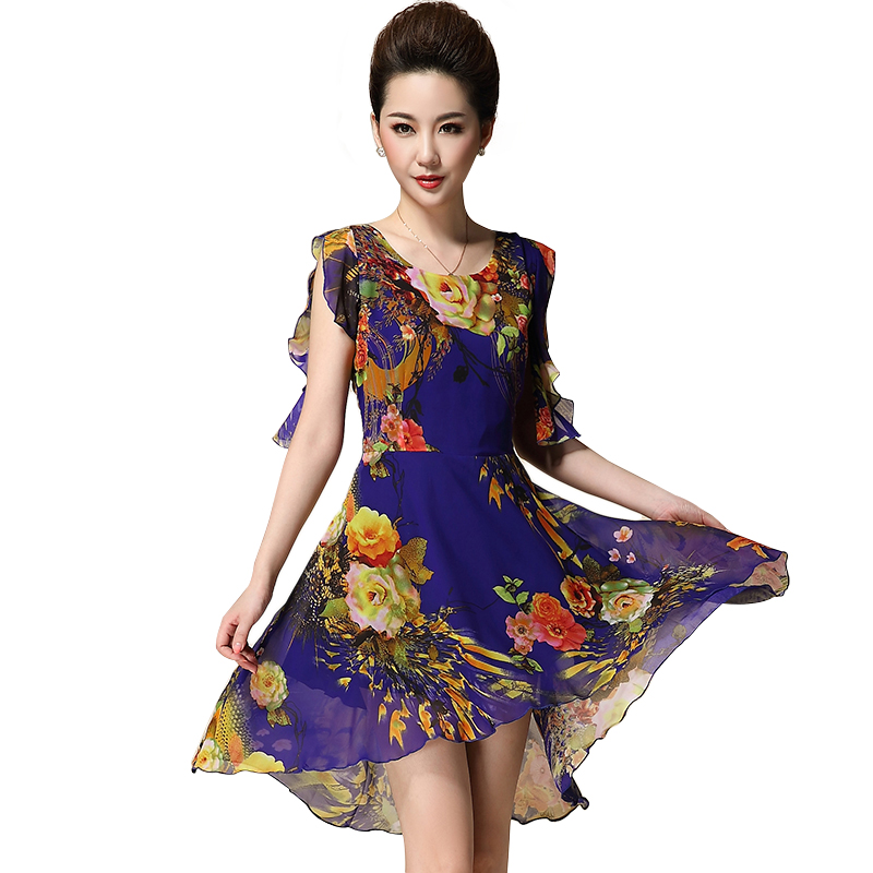 Váy mullet voan hoa tay bèo QIZ