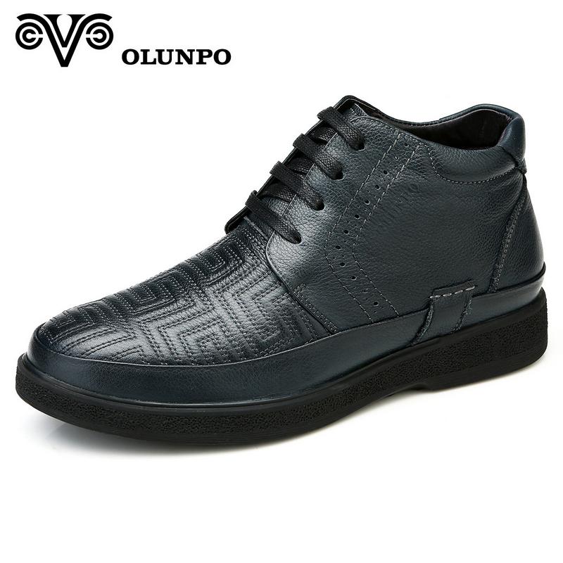 Giày boot nam Olunpo DHF1401 Đệm nhung