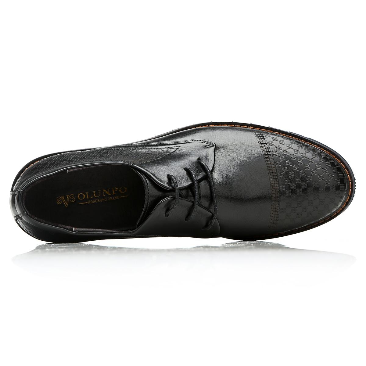 Giày da nam Olunpo QMD1401 phối màu độc đáo