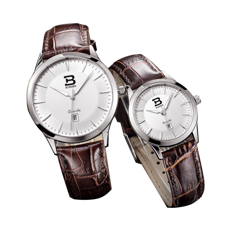 Đồng hồ đôi siêu mỏng cao cấp Binger
