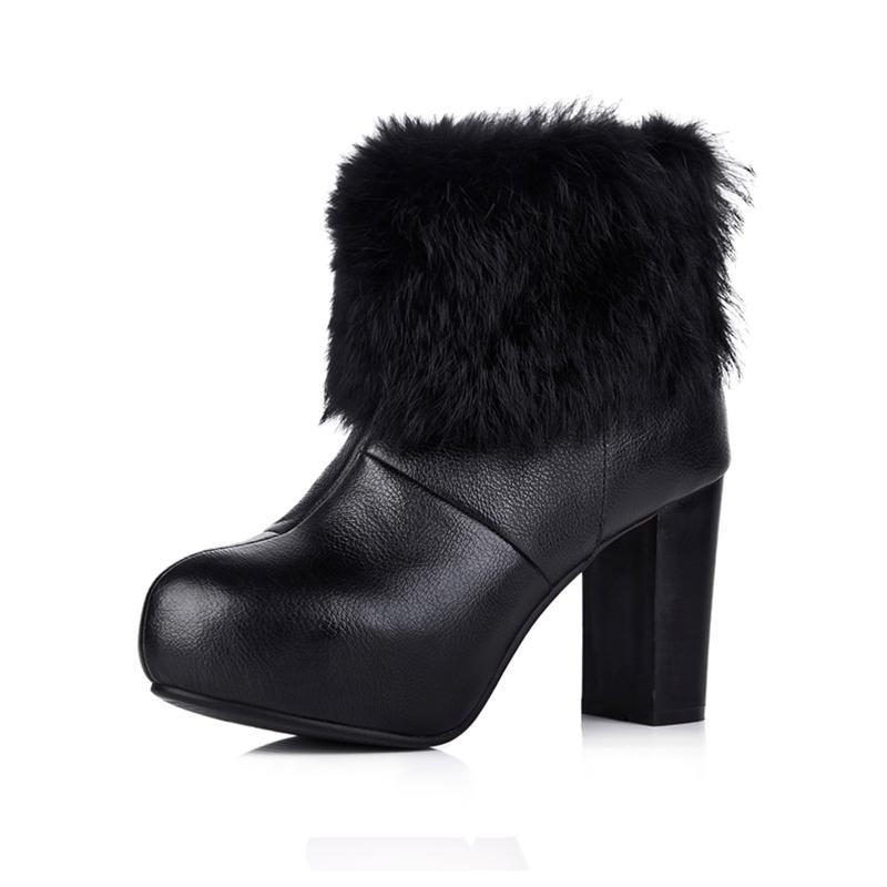 Ankle boots nữ cổ lông YiYa YY5757