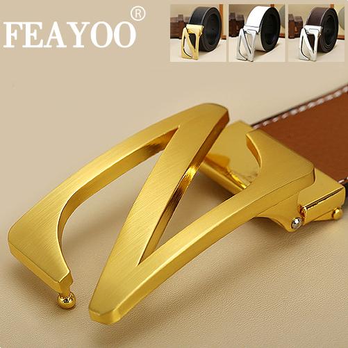 Dây lưng nam FEAYOO FY-D060 khóa Z bạc dây đỏ