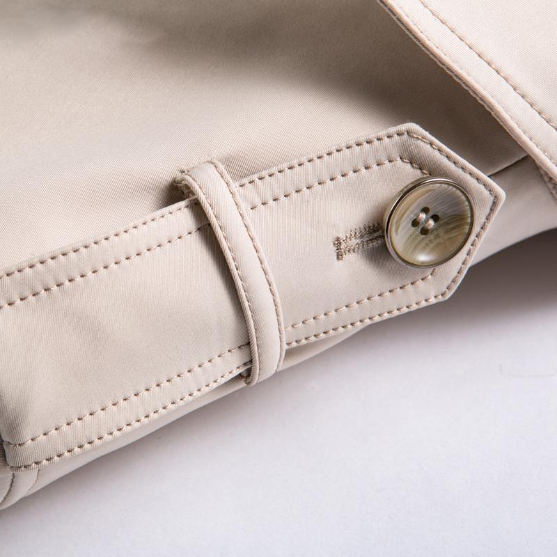 Áo khoác măng tô nam thắt đai dáng dài Myknow