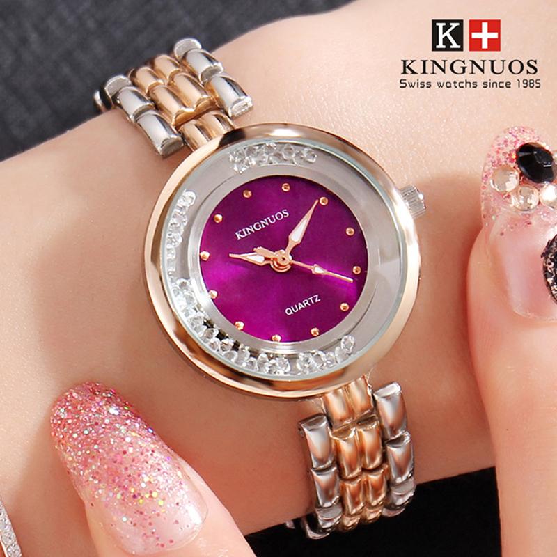 Đồng hồ vòng tay nữ đính đá Kingnuos