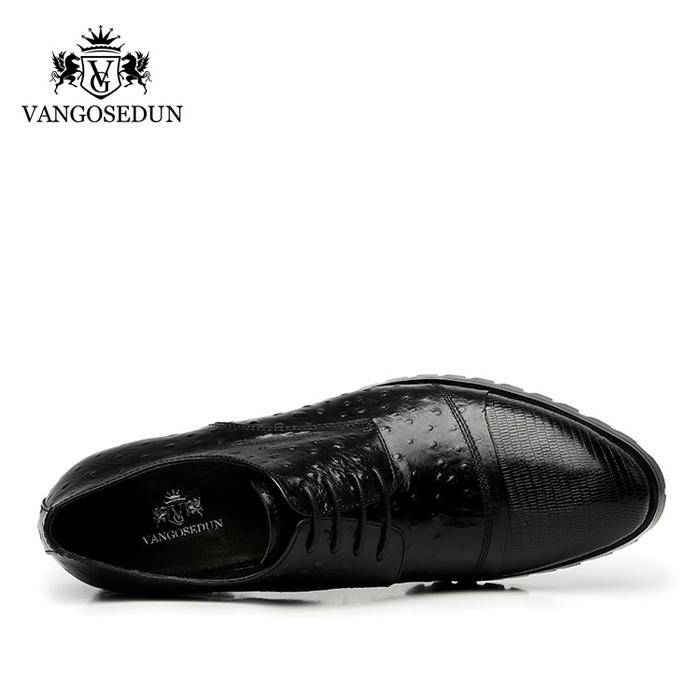 Giày da nam VANGOSEDUN 732169 hoa văn cá sấu