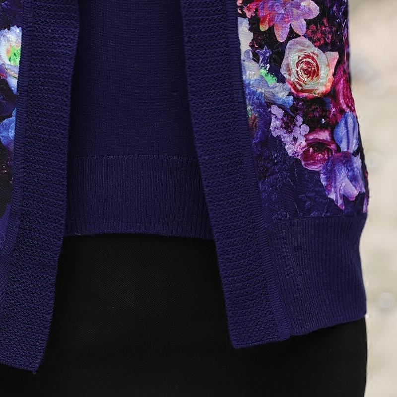 Bộ áo len thêu hoa đính đá SMT
