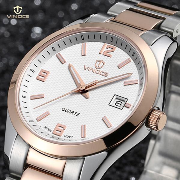 Đồng hồ nam máy Quartz Vinoce 8380