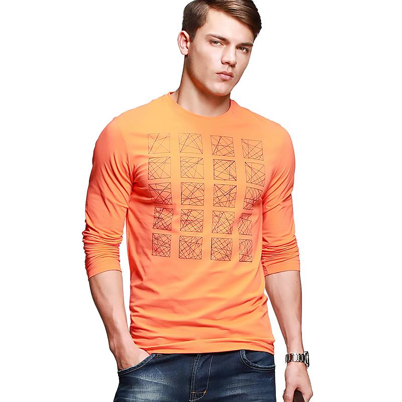 Áo T-shirt dài tay màu hot-orange K-Jeans