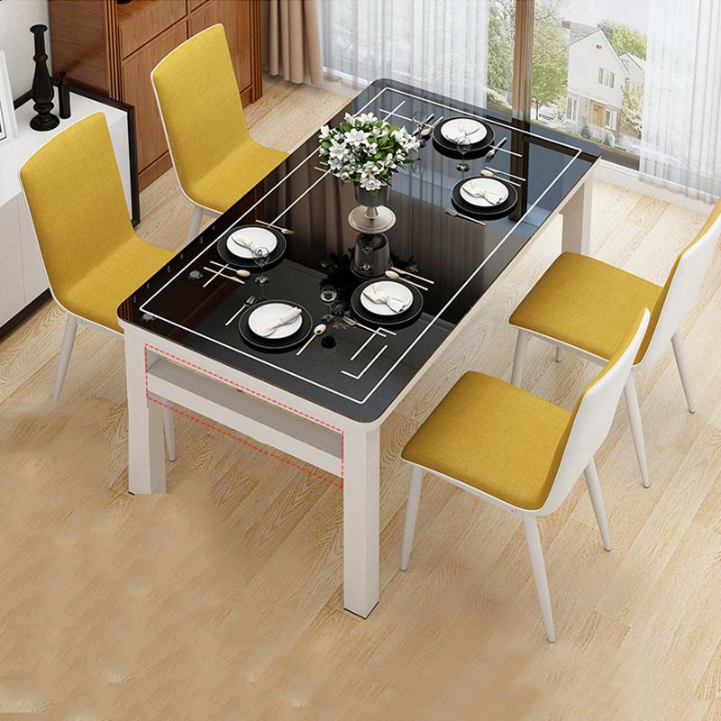 Bộ bàn ghế ăn kính cường lực hai lớp cao cấp