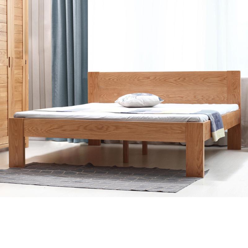 Giường đôi gỗ thịt Bắc Âu tùy chỉnh độ cao