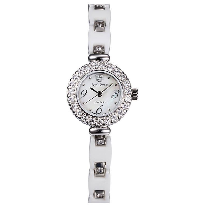 Đồng hồ nữ dây gốm sứ Royal Crown