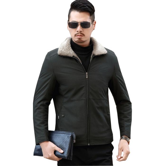 Áo Jacket cổ bẻ lót lông