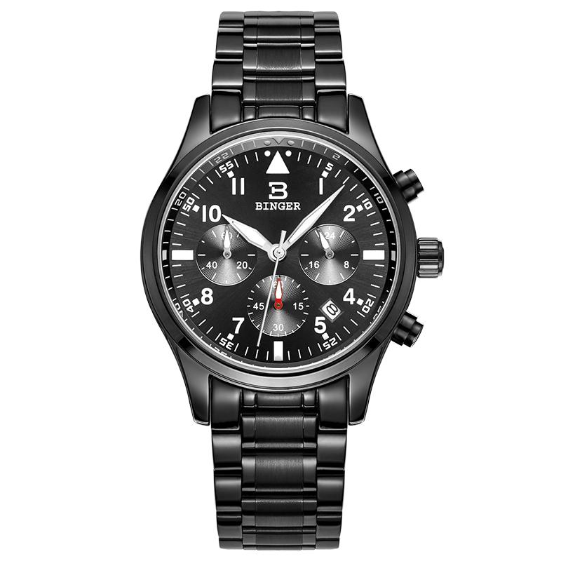 Đồng hồ chronograph nam Binger đa phong cách