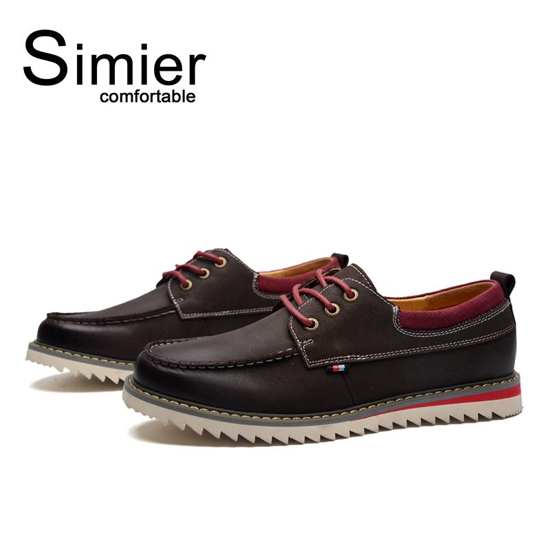 Giày da nam đế răng cưa Simier 8125 nổi bật