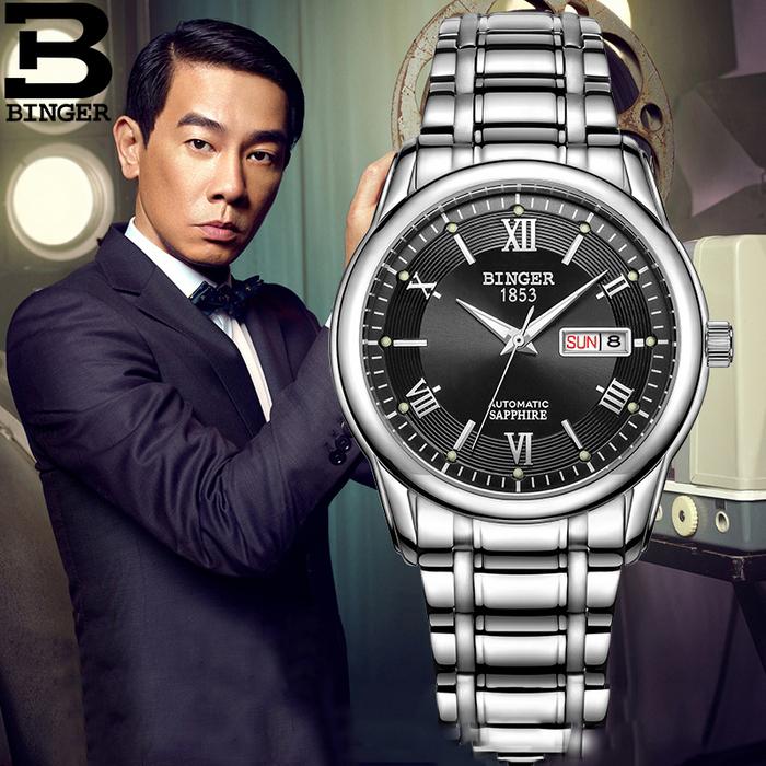 Đồng hồ đeo tay nam thời trang Binger