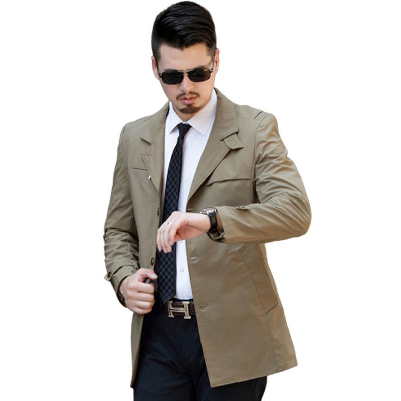 Áo khoác gió nam Trend Coat dáng dài cổ bẻ mới