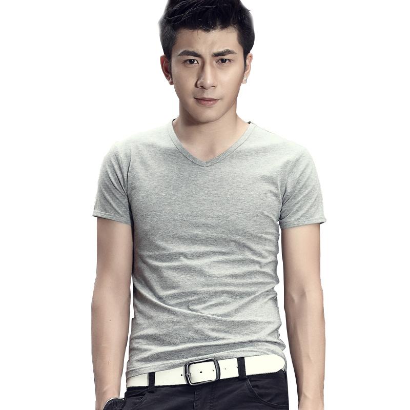Áo T-shirt nam cổ tim trơn màu Sinhillze