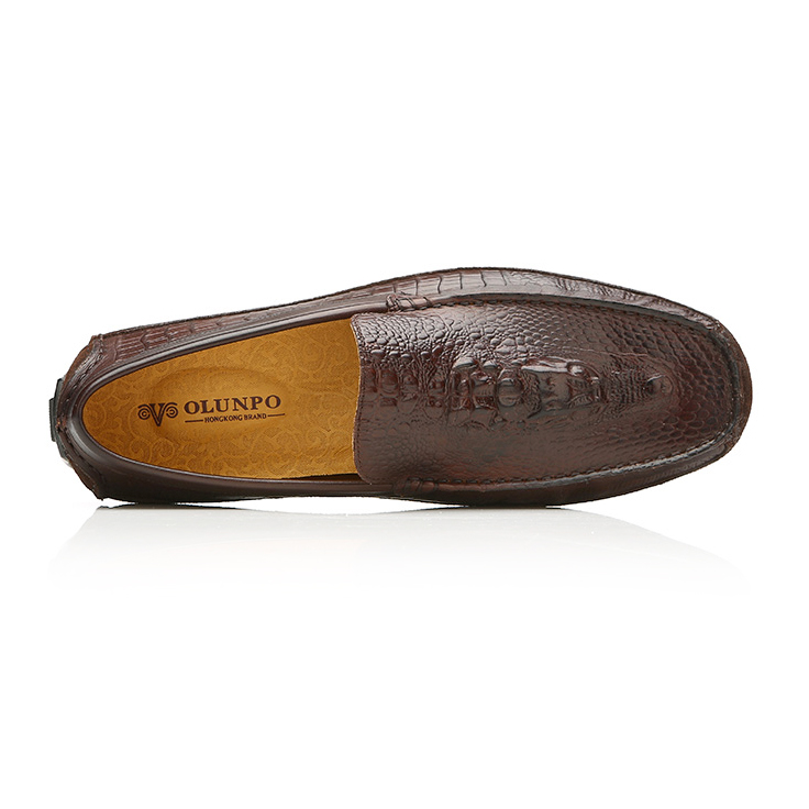 Giày lười nam hình cá sấu Olunpo CCY1502 tinh tế
