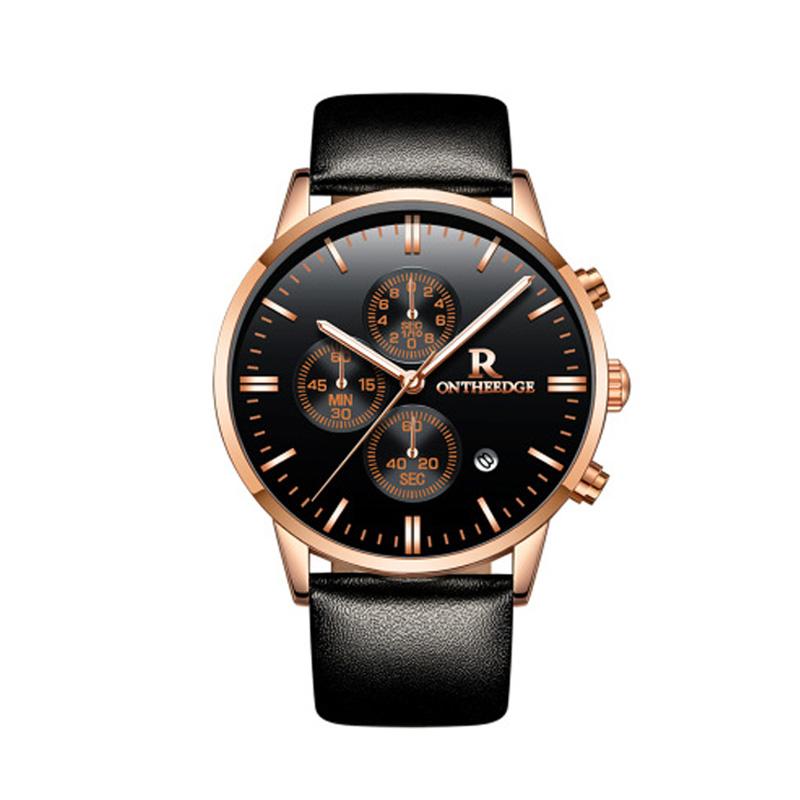 Đồng hồ nam đa chức năng Ontheedge dây da bền đẹp