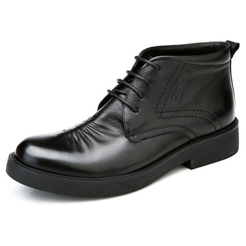 Giày boot da Olunpo DHT1419 Đệm nhung