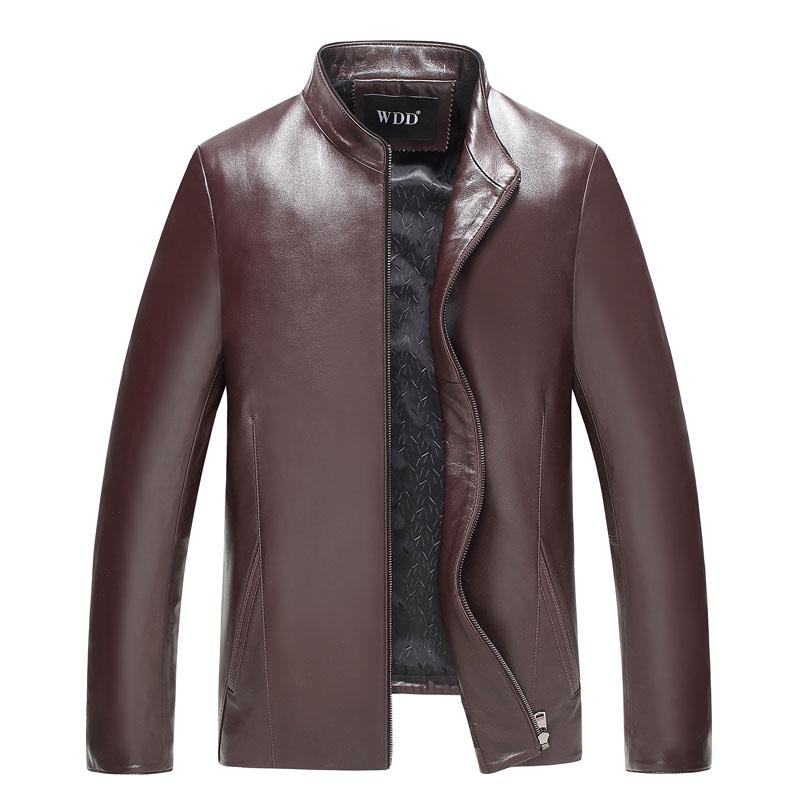 Áo Jacket da cừu cổ đứng trơn màu WDD