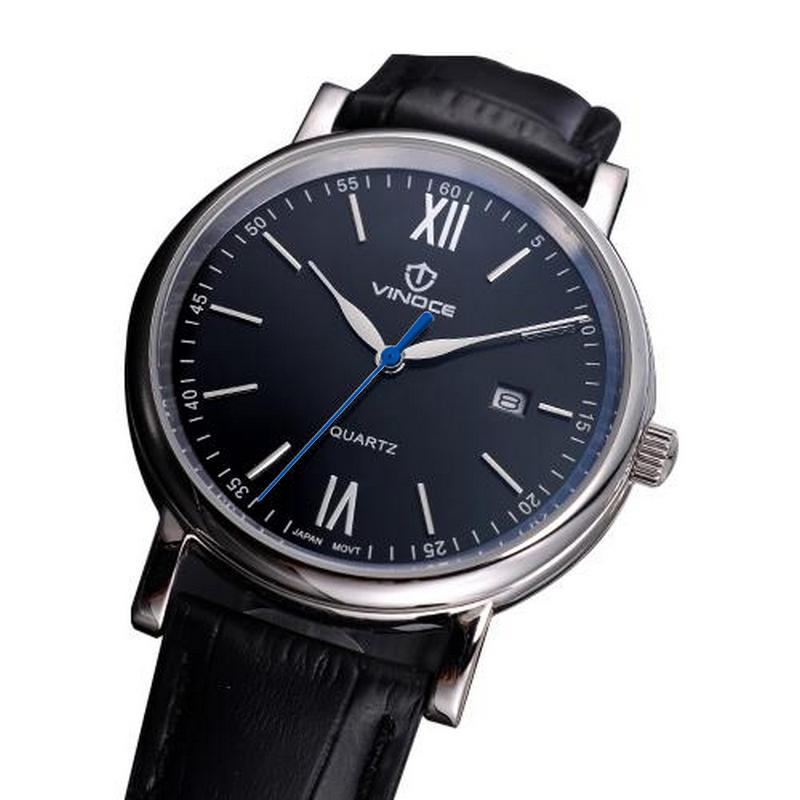 Đồng hồ nam dây da Vinoce