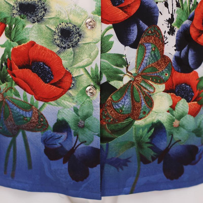 Áo sơ mi cộc tay cổ bẻ in hoa Poppy SMT