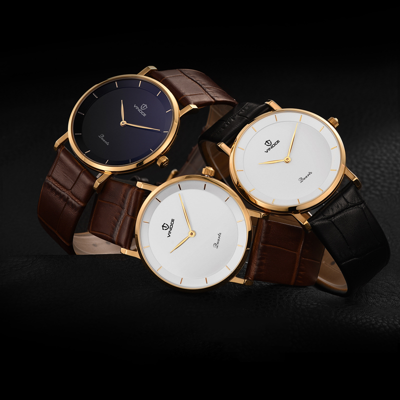 Đồng hồ nam Vinoce mặt siêu mỏng (5mm)
