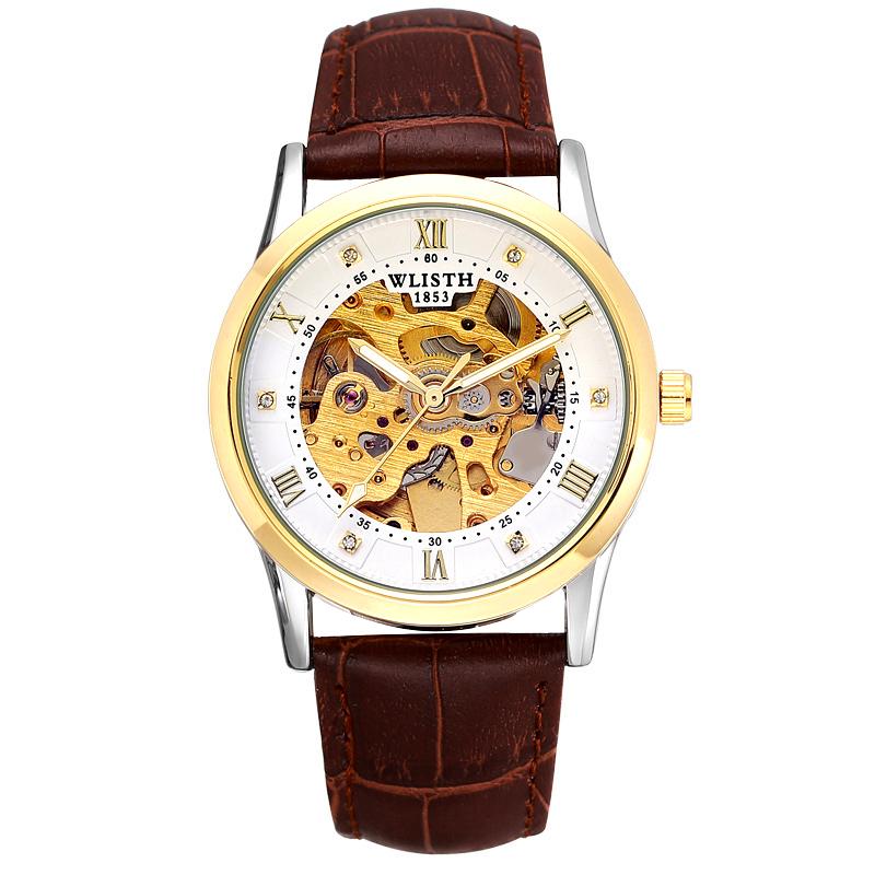 Đồng hồ cơ nam chạm rỗng lộ máy Voley Wlisth