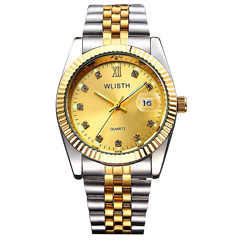 Đồng hồ thời trang nam mốc giờ đính đá Wlisth